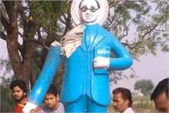 ambedkar s statue damaged in varanasi