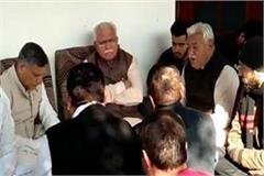 cm khattar brother of legislator ghanshyam das arora reached home