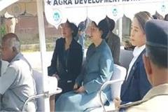 south korea s first lady reached agra
