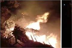 fierce fire of devbhomi in diwali