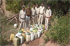 a big success of the police 17 lakhs of liquor was destroyed