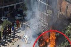 a fierce fire in a factory producing quilt in shimla
