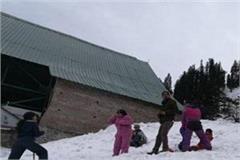 tourists snow gulaba