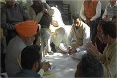 subhash barala arrives to console the mla s house