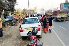 trap of steet vendor in una trouble of traffic and passer by