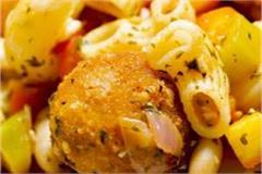 bean pasta stew with cheese ball