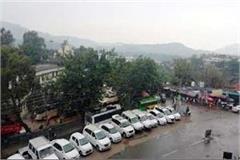 rain in bilaspur temperature declines