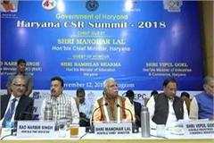 haryana csr summit 2018 hundreds of companies took part cm attended