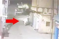 captured ghost in cctv footage pursuit of people passing through the road