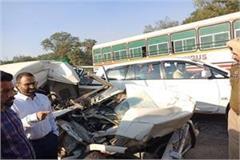 road accident car tipper