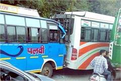 collision between 2 buses on nh 21 4 passenger injured