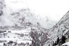 snowfall at lahaul and manali peaks including bharmour