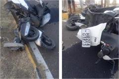 raod accident three died thre injured
