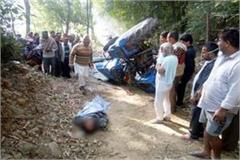 painful incident  death of driver due to tractor accident