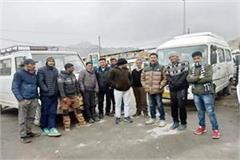 14 vehicle driver of manali stranded in leh from snowfall
