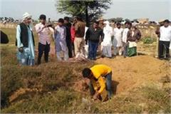 old woman was taken out after digging a grave after one and a half years