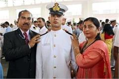 himachal s son enhanced glory becomes lieutenant in navy