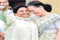 mayawati s announcement support for congress in mp
