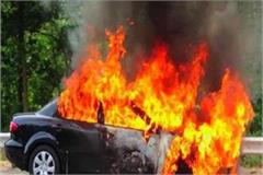 greater noida car burns painful death of engineer due to fire