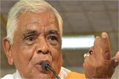 the big statement made by babulal gaur
