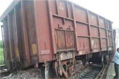 two coaches of the goods train derailed