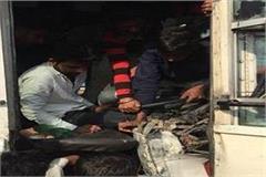 due to roadways and private bus in yamunanagar injured dozen passengers injured