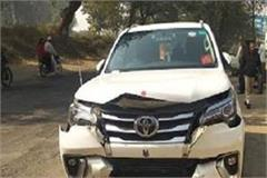 transport minister going to panipat gets accidents