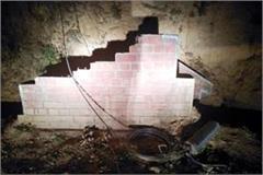fondation stone plaque break in panoh panchayat