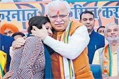 cm khattar passionate about the girl s sad tales came out on stage