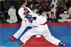 players win the 13 medal in national karate competition