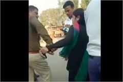 traffic police asi did insolent of young lady video viral