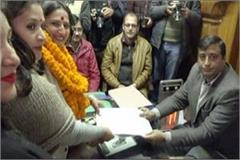 triangular contest in sangti ward question of credibility for bjp congress