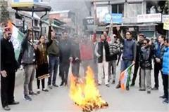 youth congress burn the effigy of pm modi in dhalpur