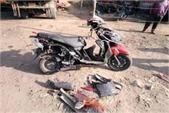 death of youth in collision between jeep and scooty