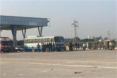 toll plaza workers beaten to haryana roadways driver and conducter
