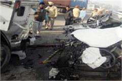a terrible accident in amritsar 2 people going on election duty