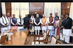 mayor meet prime minister narendra modi