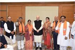 new elected mayor in haryana meet to amit shah