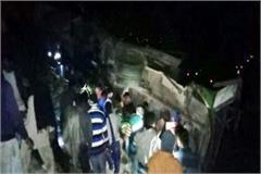 hrtc bus fall into ditch death of 2