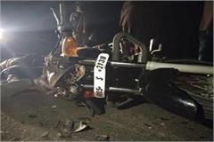 two died in road accident at karnal indri