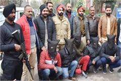 arrested 5 gangsters firing on police