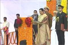 bhopal anandiben patel sworn in as governor of madhya pradesh