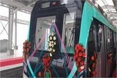 noida greater noida metro trial starts