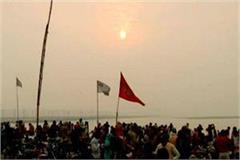 new years eve sunrise deedar rises in sangam nagar