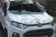 4 dead in dense fog car and biker collision