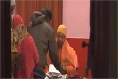 cm yogi listened to people s problems by putting public durbar