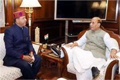 bindal meets union home minister and human resource development minister