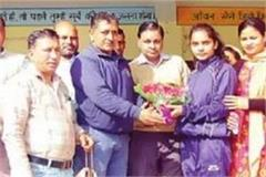 bronze medal by winning returned daughter grand welcome