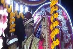 bridal arrived groom home with procession