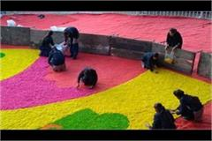 rangoli making with schoolgirls in shah rally is totally inappropriate
